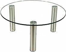 Stegert-Design 43234-M Couchtisch Glas Klarglas 90