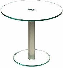 Stegert-Design 57724-M Couchtisch, Glas, Weiß, 55