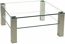 Stegert-Design 72124-M Couchtisch, Glas, Klarglas,