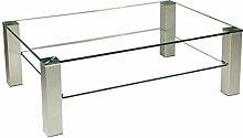 Stegert-Design 72524-M Couchtisch, Glas, Klarglas,