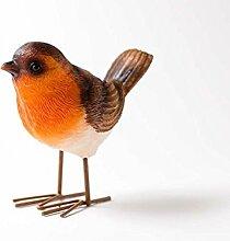 stehend Robin Ornament, ideal für Innen oder Außen. Wetterfest Design von Dill und Minze