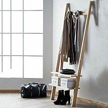 Stehgarderobe aus Holz Kleiderständer aus Holz
