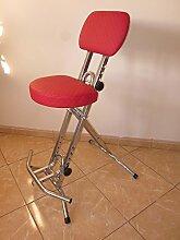Stehhilfe Stehhocker Stehsitz Silber Rot ergonomische 6 cm Sitz bis130 kg