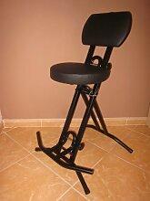 Stehhilfe Stehhocker Stehsitz Sitz Sitzhilfe Stehstütze mit 6 cm ergonomischer Polster bis 130 kg belastbar
