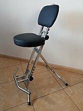 Stehhilfe Stehhocker Stehsitz Sitz Stehstütze mit 6 cm dickem Polster bis 130 kg belastbar TGNEX