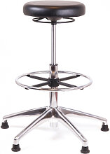 Stehhocker Chairsupply 336 Kunstleder schwarz Alu