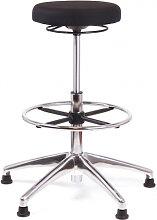 Stehhocker Chairsupply 338 Stoff schwarz Alu
