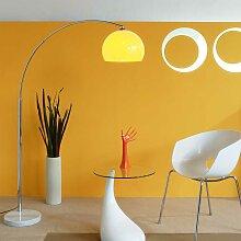 Stehlampe in Orange Marmorfuß
