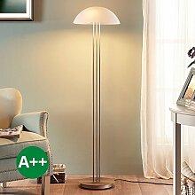 Stehlampe Kaytie (Modern) in Weiß aus Glas u.a. für Wohnzimmer & Esszimmer (3 flammig, E27, A++) von Lampenwelt | Stehleuchte, Wohnzimmerlampe