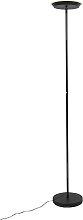 Stehlampe schwarz 3-stufig dimmbar inkl. LED und