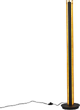Stehlampe schwarz mit Gold inkl. LED dimmbar 3