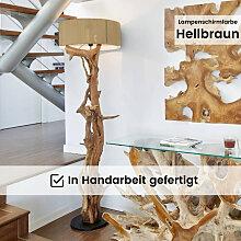 Stehlampe Teakholz BLUMA  | Höhe 180 cm | inkl.