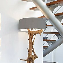 Stehlampe Treibholz BLUMA | Designer Teak Lampe