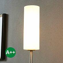 Stehlampe Vinsta (Modern) in Weiß aus Glas u.a. für Schlafzimmer (1 flammig, E27, A++) von Lampenwelt | Stehleuchte, Schlafzimmerleuchte