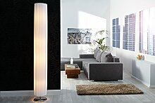 Stehlampe Weiß Chrom 200cm rund Bauhaus Design