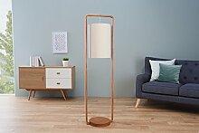 Stehlampe Weiß Holz 152cm Modern rund