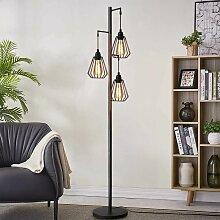 Stehlampe Wohnzimmer Vintage 3-flammige