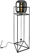 STEHLEUCHTE BALONI , Schwarz , Glas , 38x154 cm ,