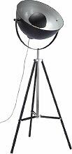 Stehleuchte Bowl Black, moderne Stehlampen, Dreibein Wohnzimmerlampe, Studiolampe E27, Design Stehleuchte schwarz-gold (H/B/T) 160x70x70cm
