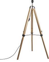 Stehleuchte im Landhausstil Holz ohne Lampenschirm