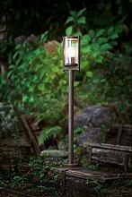 Stehleuchte Standlampe Beleuchtung Außenleuchte Stahl Glas Eglo BAGAOS 91643