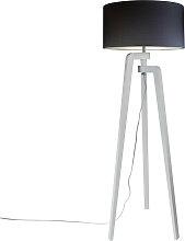 Stehleuchte Stativ weiß mit Lampenschirm 50 cm