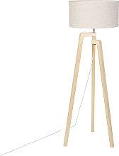 Stehleuchte Stativholz mit Pfefferschirm 50 cm -