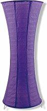 Stehleuchte Stehlampe Tisch Papier Lila Violett Lampe Leuchte Designleuchte Designlampe Reispapier Reis