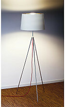 Stehleuchte Tropic Aluminor silber, 140 cm