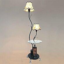 Stehleuchte, Wohnzimmer Stehleuchte Tee Tisch Stehleuchte Schlafzimmer Bett Lampe LED Lampe vertikale Tischlampe kann Fernbedienung sein ( Farbe : Schwarz-Fernbedienungsschalter )
