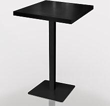 Stehtisch 70x60cm Schwarz