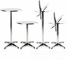 Stehtisch Alu versch. Modelle 2 in 1 höhenverstellbar Bartisch Bistrotisch Tisch klappbar Theke (Modell 2: Stehtisch klappbar)