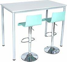 Stehtisch Besprechungstisch Mehrzwecktisch Universaltisch Tisch Bistrotisch Stehpult Pausentisch | Höhe: 112,5 cm | 6 Größen | 6 Farben | Metallgestell (Ahorn, 160 x 80 cm)