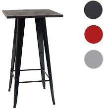 Stehtisch HWC-A73 inkl. Holz-Tischplatte,