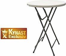 Stehtisch KYNAST klappbar Bartisch Tisch mit Platte 80 cm
