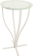 Stehtisch Rosario, matt-weiß-milchglas