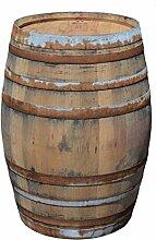 Stehtisch Tisch aus Holzfass, Gartentisch Weinfass, Fass, Barrique Tisch aus Eiche Holz rustikal 225 Liter (rustikal natur)