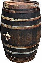 Stehtisch Tisch aus Holzfass, Gartentisch Weinfass, Fass, Barrique Tisch aus Eiche Holz rustikal 225 Liter (rustikal geölt)