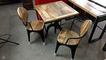 Stehtisch Tisch Industrial Design 76 cm Esstisch Bartisch Bistrotisch Massivholz