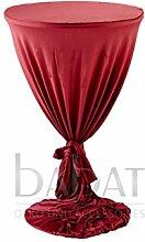 Stehtischhusse Classic Bordeaux Überwurf Hussen für Bistrotisch in Durchmesser 70cm