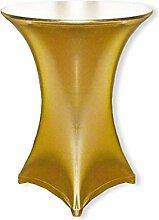Stehtischhusse Stretch Gold Metalic Hussen für