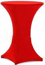 Stehtischhusse Stretch Tischhusse Tischdecke Bistrotisch Hussen Hochzeit Party in verschiedenen Farben und Größen 60 (Rot)
