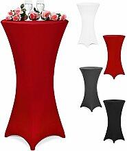 Stehtischhusse Tischhusse Husse für Stehtisch Bistrotisch Tisch 3 verschiedene Größen Ø 60/70/80 cm - Farbauswahl/(Ø 80 cm, bordeaux-rot)