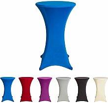 Stehtischhussen Tischhusse Tisch Husse Stehtisch Bistrotisch Hussen, verschiedene Farben und Größen, (60x120cm, Blau)