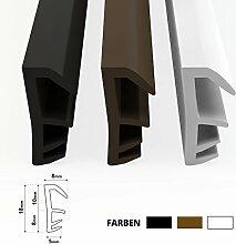 STEIGNER Flügelfalzdichtung Fensterdichtung Nutbreite 5mm aus TPE, 15m, Weiss, SFD14