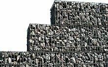 Stein Gabione Zaun 50 x 50 x 30 cm Steinkorb Mauer