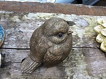 Stein Garten Ornament Süßer Robin Vogel Wildlife