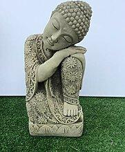 Stein Gartendeko Schlafender Buddha Statue