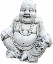 Stein Happy Buddha Gartenfigur Lachender Happy