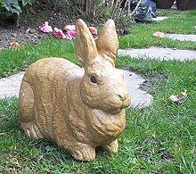 """Stein Kaninchen/Bunny Statue Ornament Haus und Garten Geschenk und Andenken """"""""Sandy"""""""", """"""""Fleck"""""""" und """"""""Noir"""